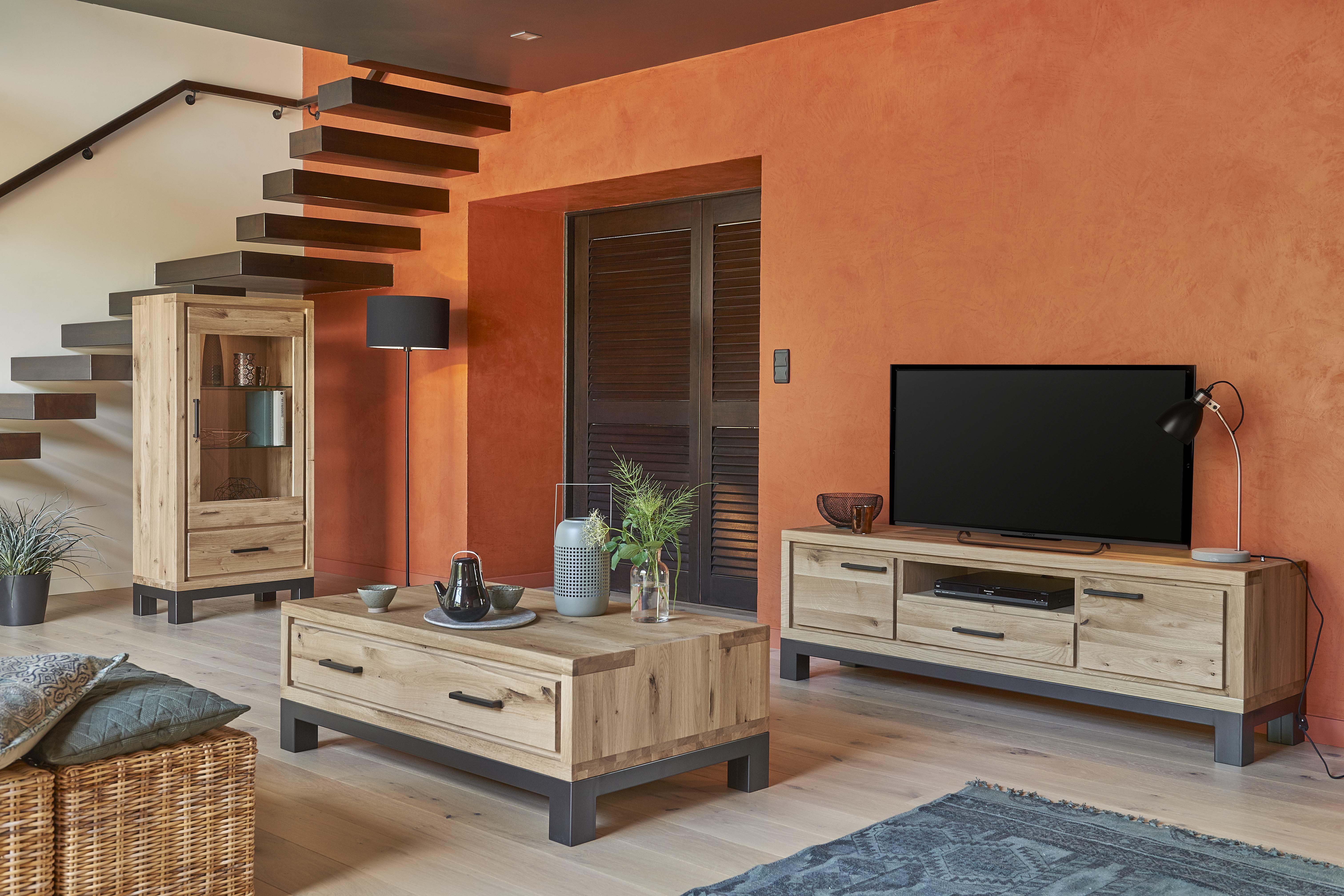 Colonne 1 porte verre 1 tiroir forest meubles fouillard for Meuble colonne a tiroir